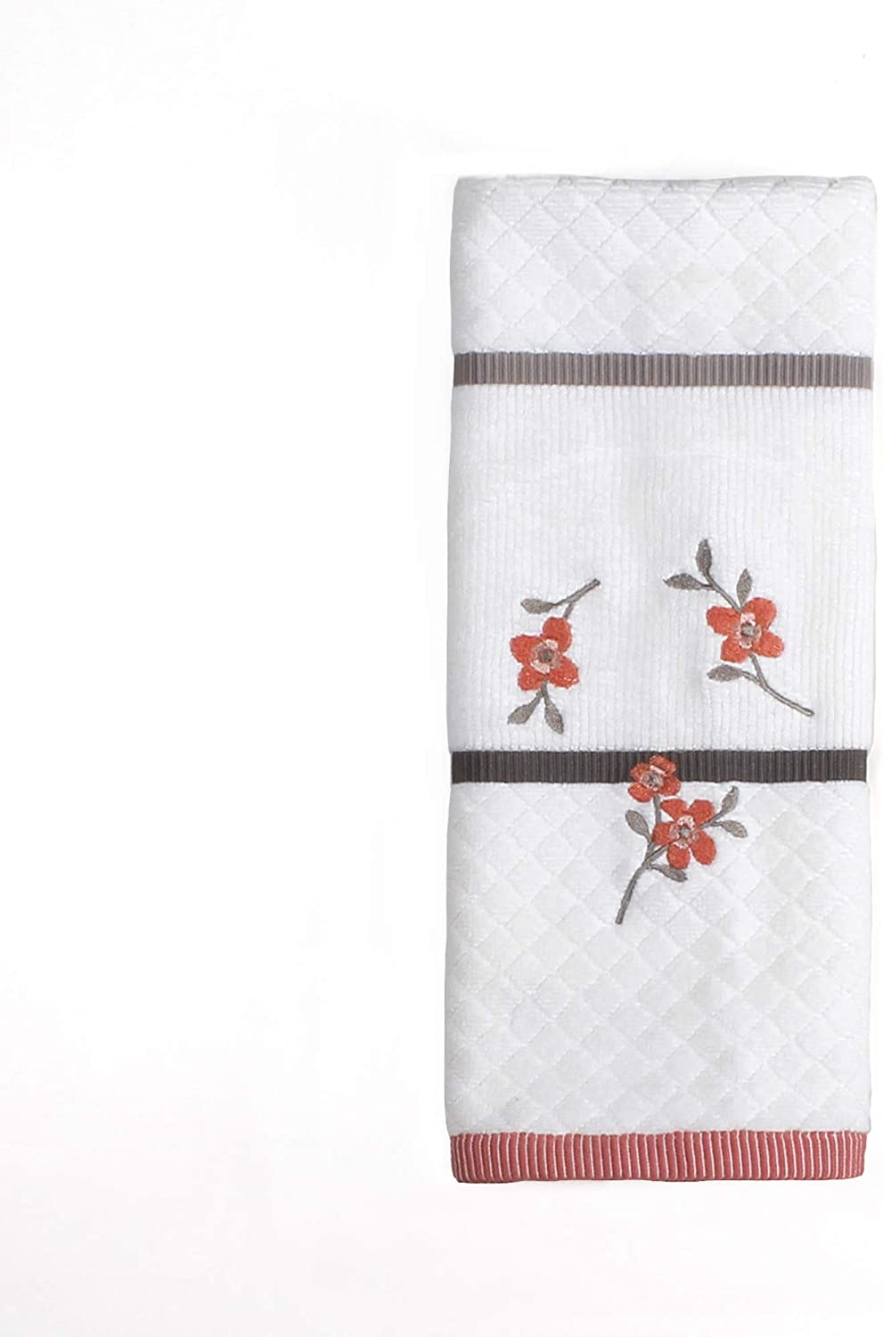 SKL Home by Saturday Knight Ltd. Coral Garden Embroidered Hand Towel, Ivory