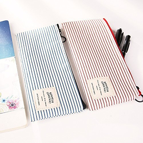 Premium Qualität Horizontale Korn Hellblau Kreative Einfache Plain Style Style Style Stifttasche Ogquaton B07Q3D791Q | Verkauf  d792f1