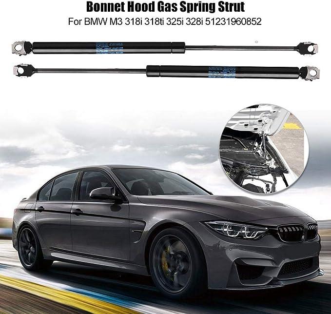 Aramox Gas Strut,1 Pair Bonnet Hood Lift Support Shocks Gas Spring Fit for 3 series E36 M3 318i 325i 51231960852