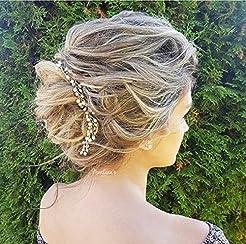 Thin hair vine bridal hair piece for wed...