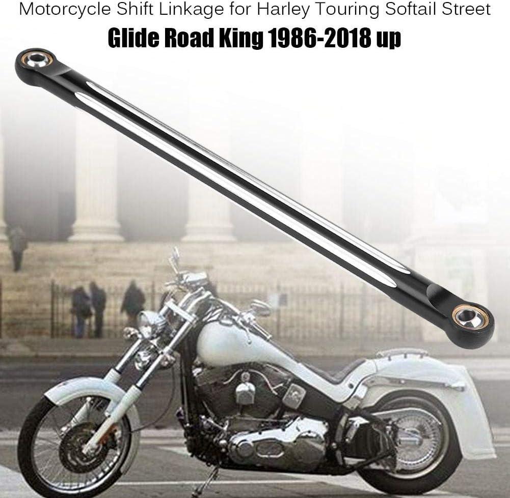 EBTOOLS Schaltgest/änge Motorrad Aluminiumlegierung Motorrad Schalthebel Edge Cut Schaltgest/änge f/ür Softail Street Glide Road King 1986-2018 nach oben Schwarz