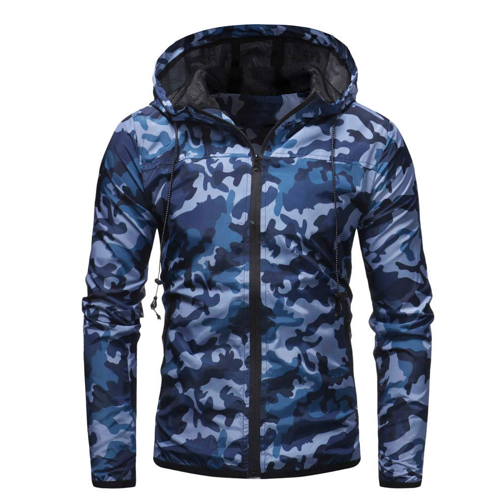 Amazon.com: MODOQO Mens Long Sleeve Camo Zipper Hoodie Sweatshirt Top Outwear Blouse: Clothing