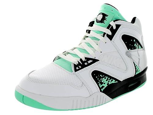 the best attitude 11c7a b7ee0 Nike Hombres de Air Tech Challenge Palo QS Zapatillas de Tenis, Color  Blanco, Talla 43 EU (M) Amazon.es Zapatos y complementos