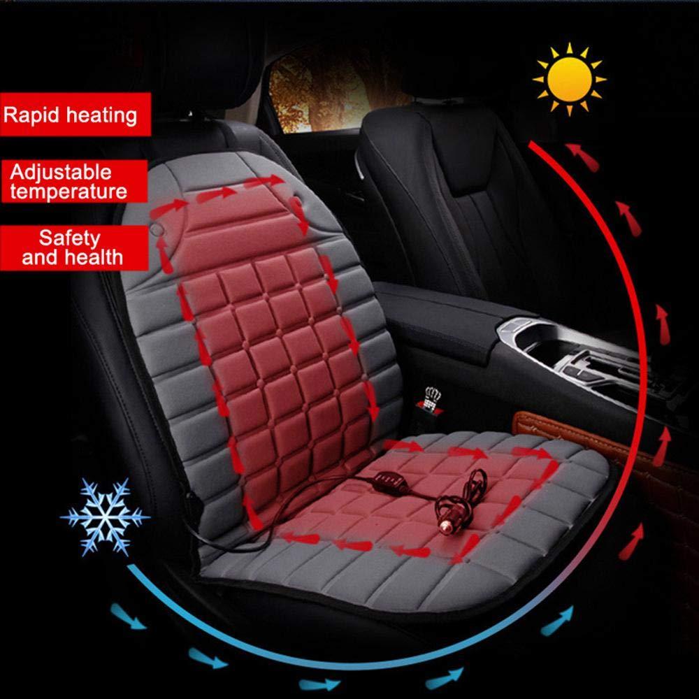 Roebii Auto Sitzheizung Auflage Heizbare Sitzauflage F/ür Auto Heim Und B/ürostuhl Universelle Auto Heizkissen Heizauflagen Beheizbare Sitzauflage