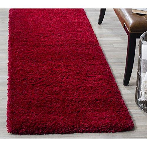 "Safavieh California Premium Shag Collection SG151-4040 Red Runner (2'3"" x 9')"