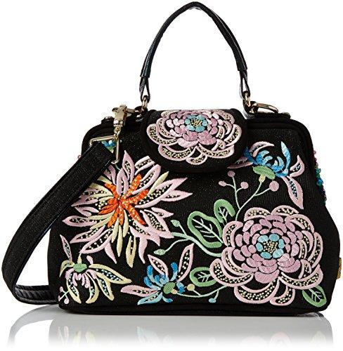 Irregular Choice - Honey Suckle Bag, Bolsos de mano Mujer, Black, 12x19x28 cm (W x H L)