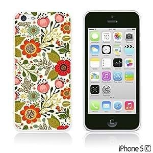 OnlineBestDigitalTM - Flower Pattern Hardback Case for Apple iPhone 5C - Cute Floral and Birds