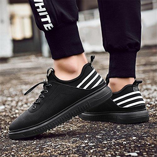 para hombre originales dos negros cuero ocasionales redondos Zapatos de de capas xfqwS0nP8g
