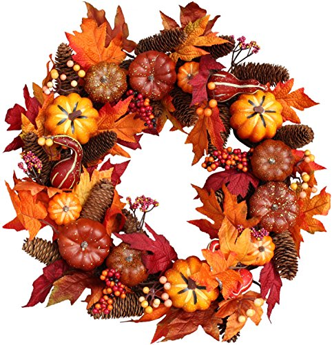 Pumpkin Harvest SilkWreath