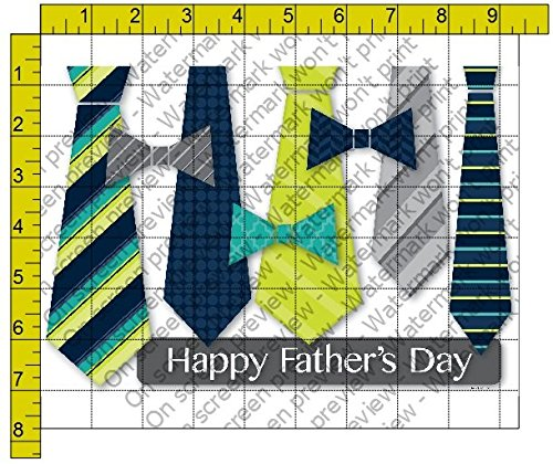 1/2 Sheet - Happy Father's Day Ties - Edible Cake/Cupcake Party Topper!!!