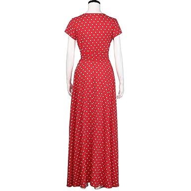 159204dd00a3c7 YULAND Kleider Sommer Damen Sommerkleid Damen Lang Knielang Kleid Damen  Sommer Kleidr Frauen Sommer Boho Lange