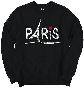 279966c0 Paris With Love Women Shirts Funny Picture Shirt Cute Gift Sweatshirt at  Amazon Women's Clothing store: