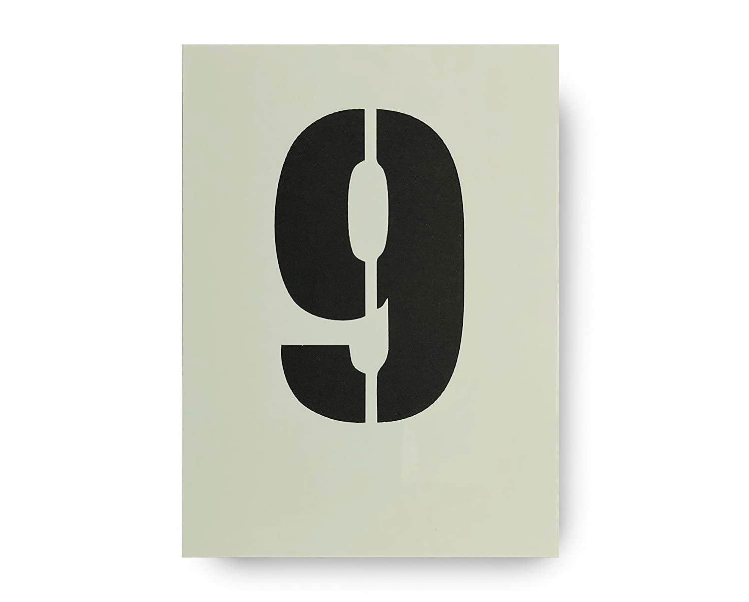 Big Number 9 Stencil 120mm 4 3/4 Inches Tall on Tough Durable Plastic Stencil Dovetails