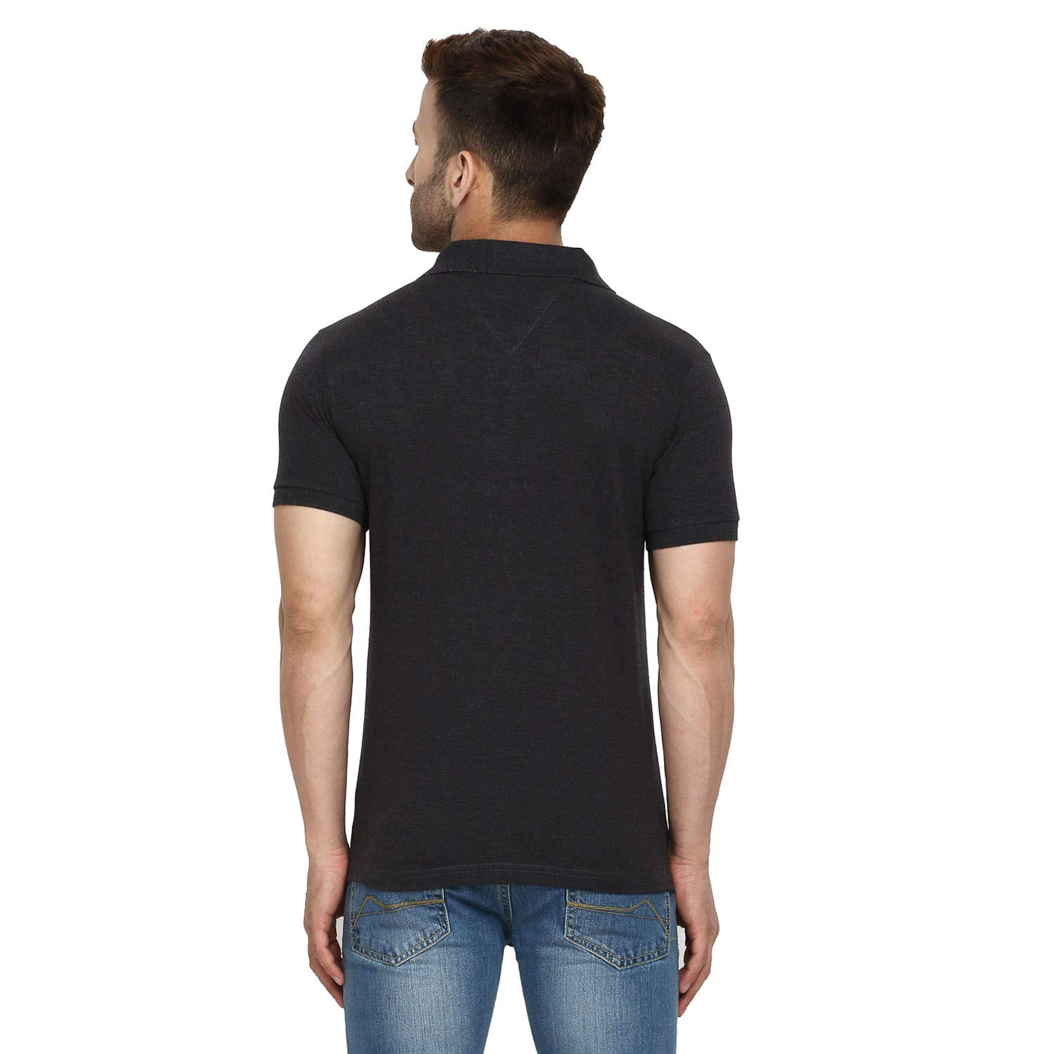 56c9218d0 CHKOKKO Two Button Half Sleeves Polo Neck Cotton T Shirts for Mens:  Amazon.in: Clothing & Accessories