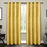 Exclusive Home Curtains Chevron Thermal Blackout Grommet Top Window Curtain Panel Pair, Sundress, 52×96 Review