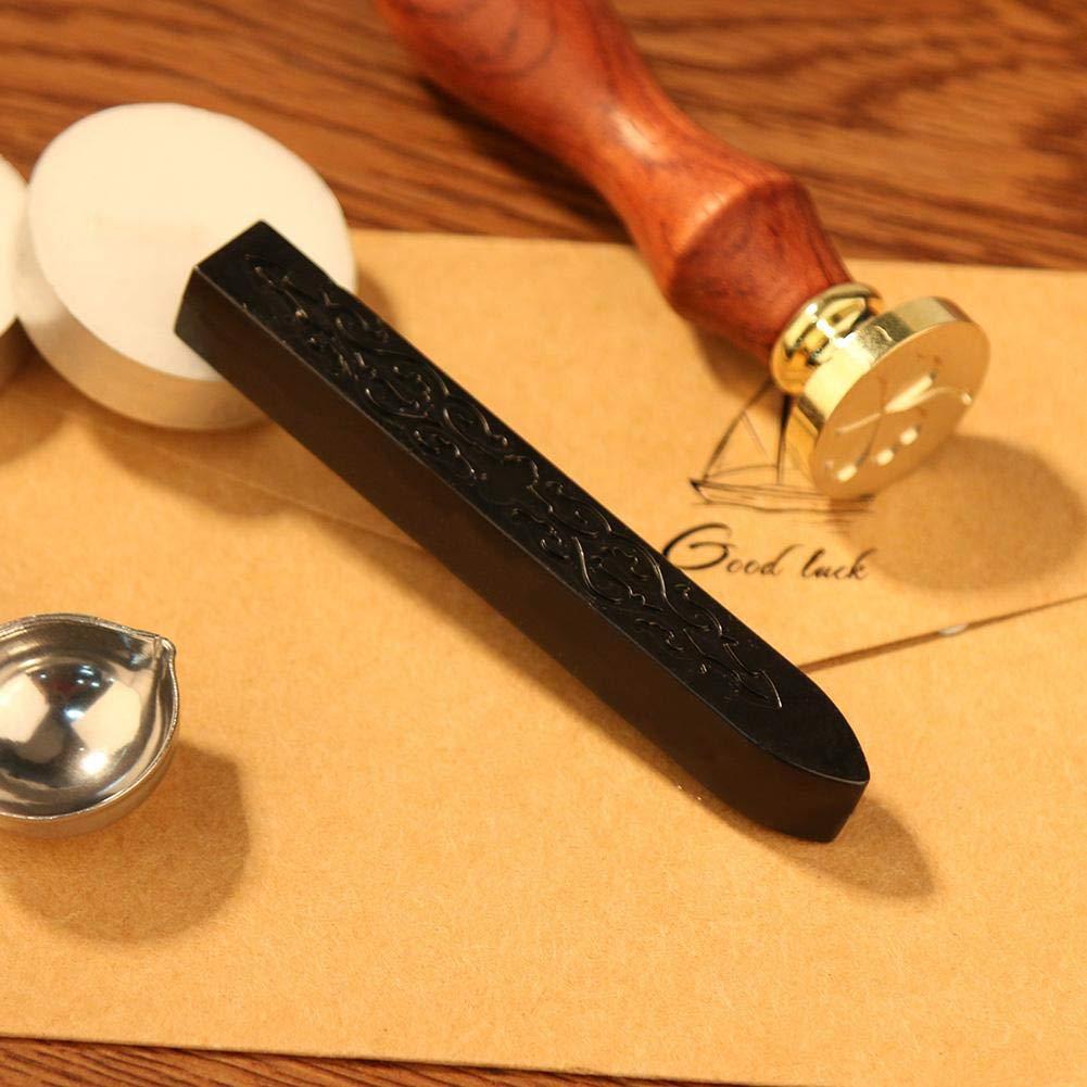 Siegelwachs Stangen Wachssiegel ohne Docht antikes Vintage Kerzen f/ür Wachssiegel Stempel Orange