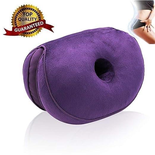 Dual Comfort Cushion Lift Hips Up Cojín de Asiento Multifunción, Cojín de Asiento ortopédico de Espuma viscoelástica, Cojín de Asiento ortopédico para ...
