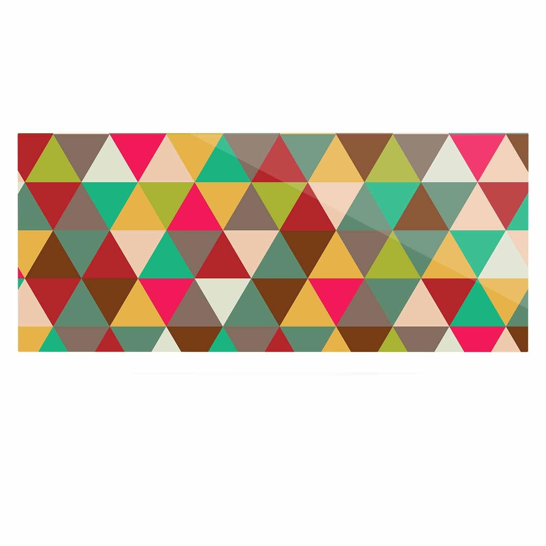 Kess InHouse Kess Original Autumn Triangle Spectrum Multicolor Geometric Luxe Rectangle Panel 24 x 36