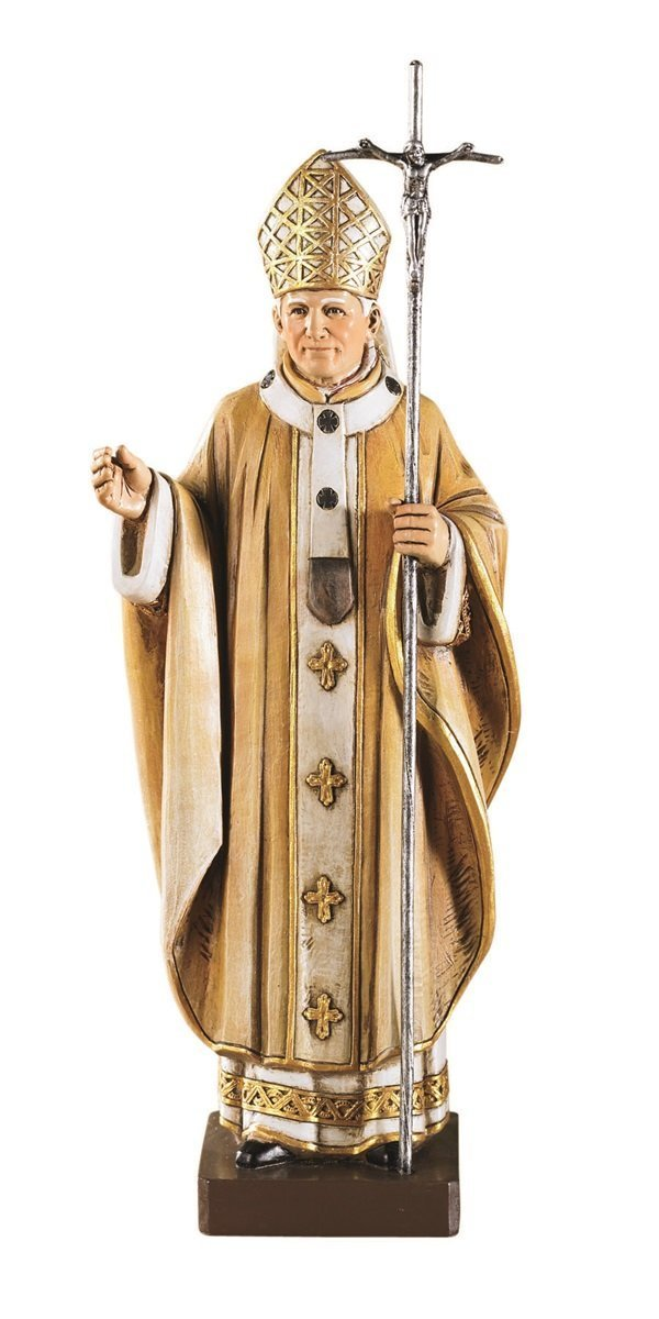 Catholic Brands Saint Pope John Paul II The Great 9 1 4 Inch Statue for Home or Church Chapel