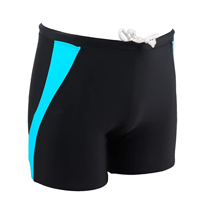 4d9073e0d979f Jonathan Swim Men's Splice Boxer Swim Trunks Briefs Square Leg Quick Dry  Board Short(S