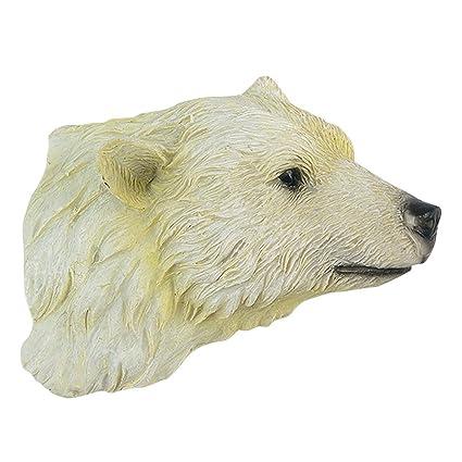 amazon com polar bear head magnet kitchen dining