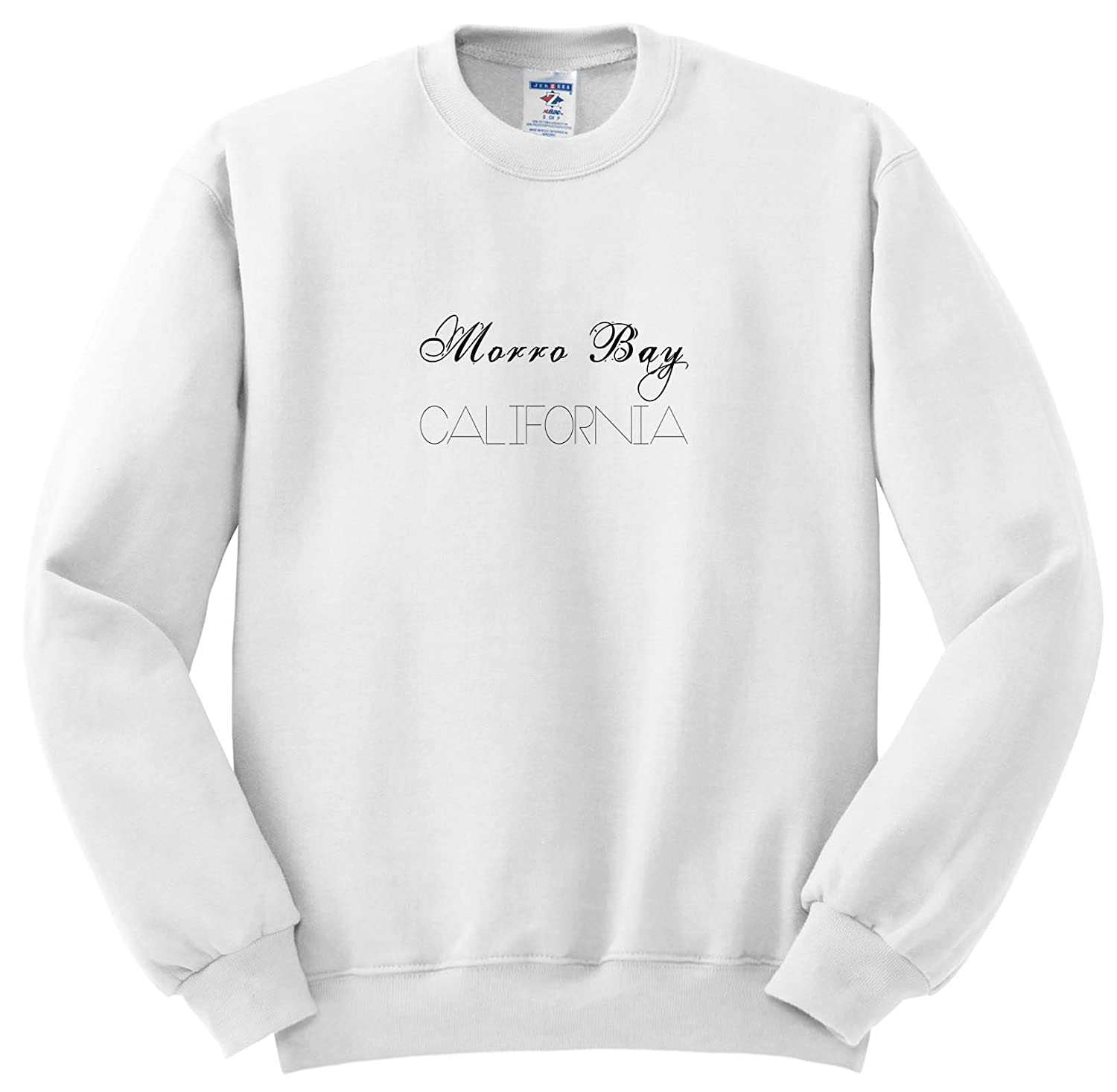 3dRose Alexis Design - American Beaches Typography - American Beaches. Decorative Text Morro Bay, California - Sweatshirts ss_290870