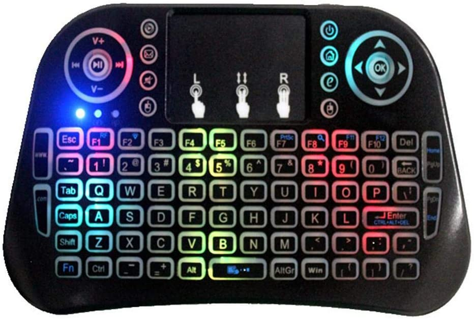 gonikm I10 Wireless 2.4G Remote Control Mini Keyboard Backlight with Touchpad Keyboards