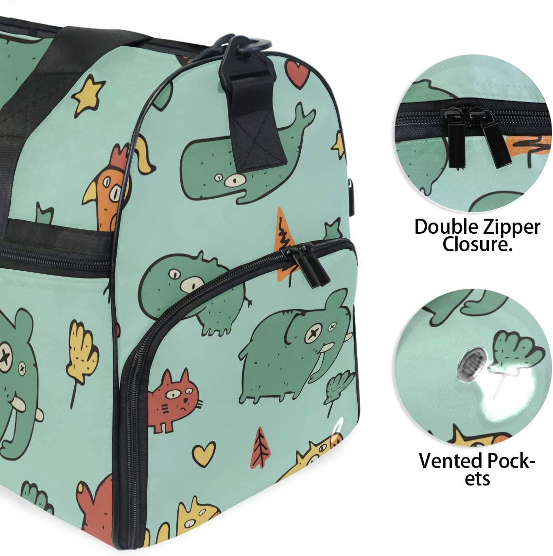 Travel Duffels Little Animals Duffle Bag Luggage Sports Gym for Women /& Men