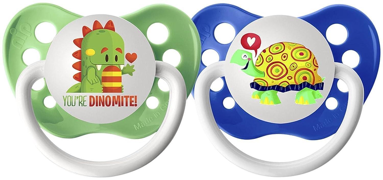 Amazon.com : Chupetes - 0-6 meses - Dragón y la tortuga - 2 ...