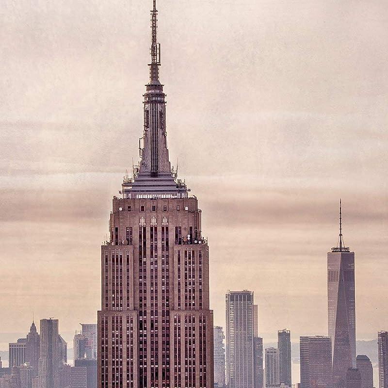 Empire State Building New York City Skyline Photo Canvas Or Wall Decor Print Handmade