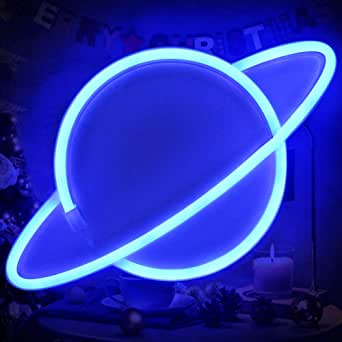 Blue Planet Neon Signs Led Kids Neon Signs Led Neon Wall Light Battery USB Powered Neon Signs Led Light Party Supplies Kids Room Decor Led Neon Light Sign for Room Wall Decor