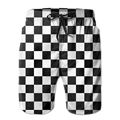 Windwinder Checkerboard Men's Fashion Summer Boardshorts