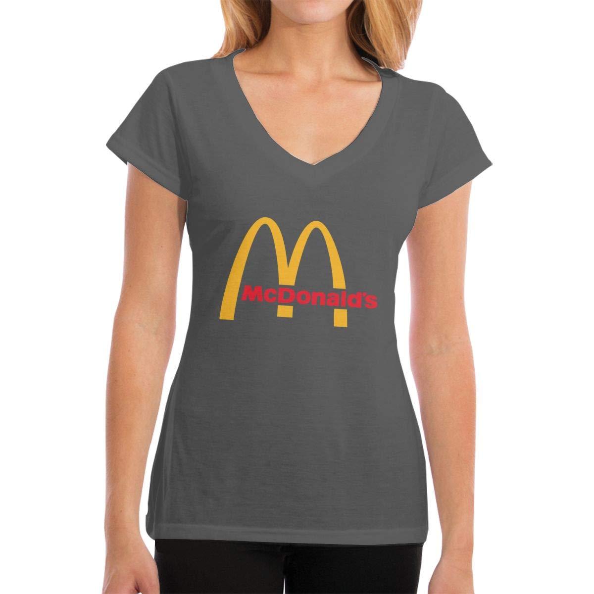 Lakssn Women's Youth Girls McDonalds Tee Shirts Short Sleeve T Shirt for Women Girls T-Shirt Crew Neck Cotton Tshirt Deep Heather XXL by Lakssn