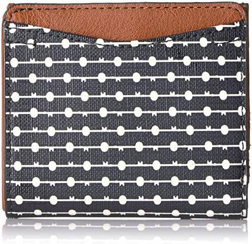 Fossil Caroline Rfid Mini Wallet Black Stripe Wallet