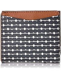 Fossil Caroline Rfid Mini Wallet Black Stripe Wallet