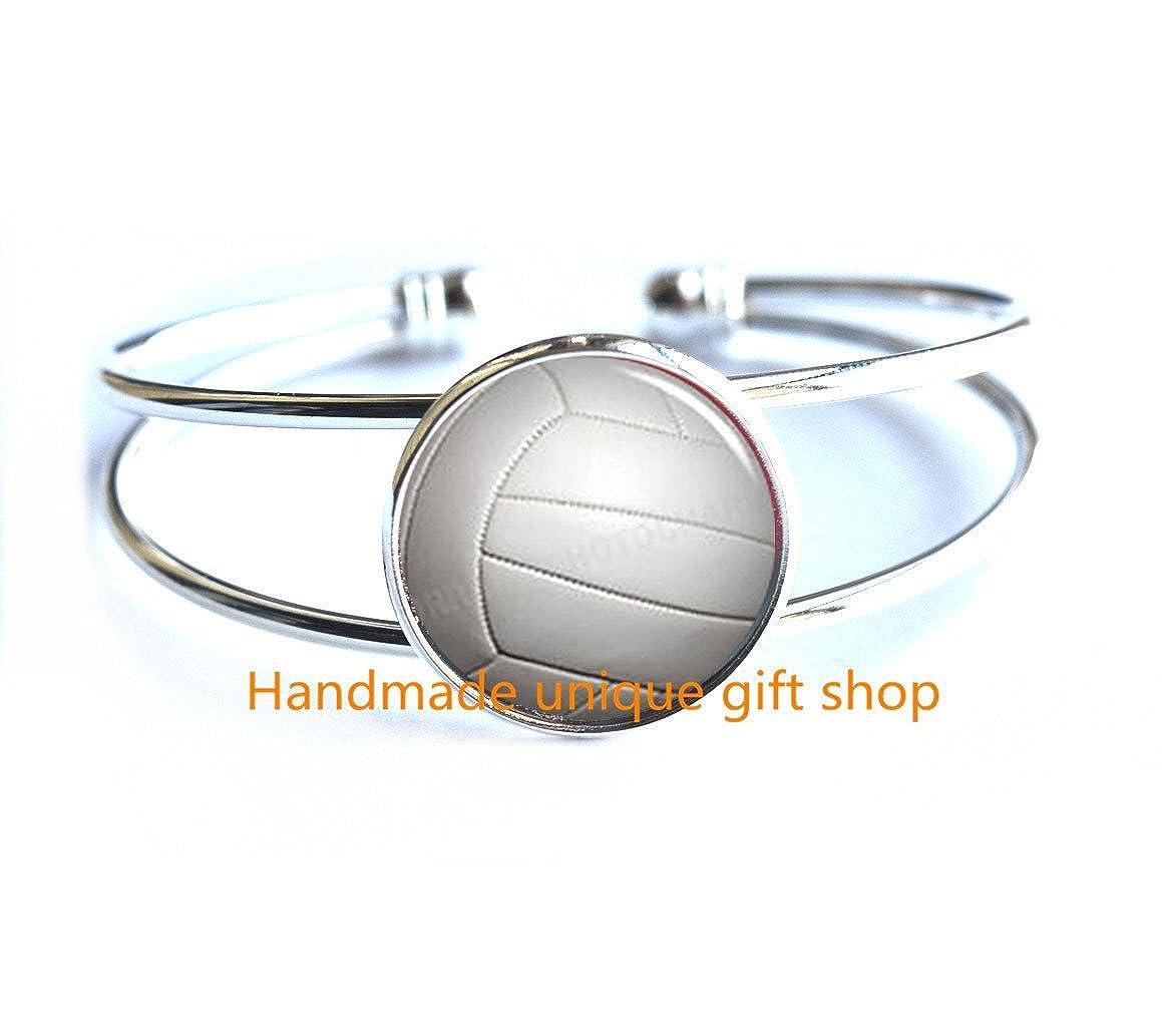 Coach Gift Volleyball Bracelet Modern Fashion Bracelet,Beautiful Bracelet volleyball charm Gift for Him-RC235 sports Bracelet,Volleyball player gift