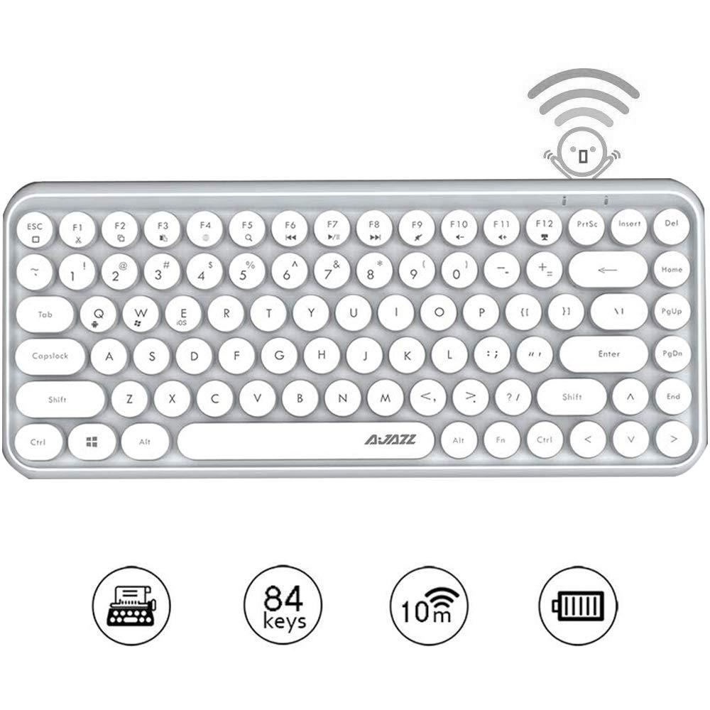 Teclado FELiCON Wireless Mini Portable 84-Key White