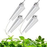 Barrina Grow Light, 96W(4 x 24W, 600W Equivalent), 2ft T8, Super Bright, Full Spectrum Sunlight Plant Light, LED Grow Light S
