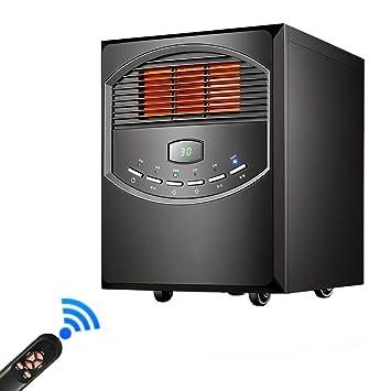 Lxn Estufa eléctrica con Control Remoto - Estufa de Efecto de Llama Realista - Chimenea eléctrica/Calentador portátil - con Efecto de Llama Real (Negro): ...