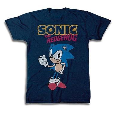 Amazon Com Sega Official Sonic The Hedgehog Shirt The Fastest