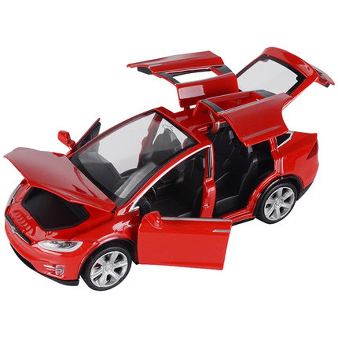 KMT Alloy Diecast Car Models Tesla Model X 90 Car Model (Red) KMT AUTO SUPPLIES
