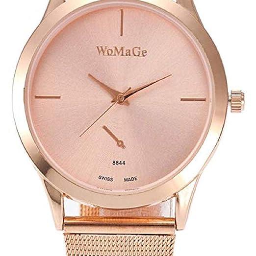Scpink Relojes de Cuarzo para Mujeres, Relojes de señora de liquidación, Relojes analógicos de Acero Inoxidable para Mujer. (Oro Rosa): Amazon.es: Relojes