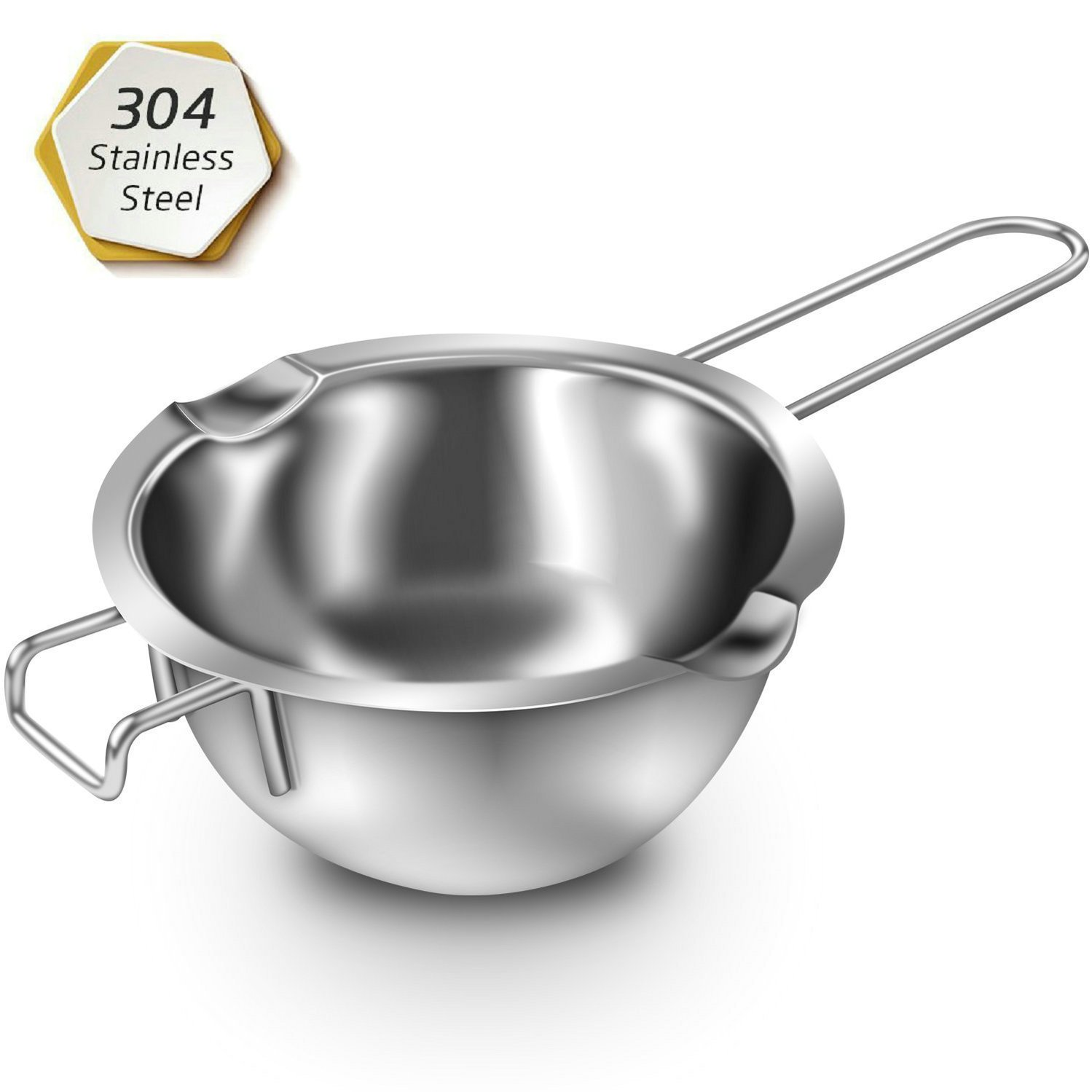 GuDoQi 304 Stainless Steel Chocolate Pot Double Boiler Universal Melting Pot for Butter Chocolate Cheese Caramel QBY