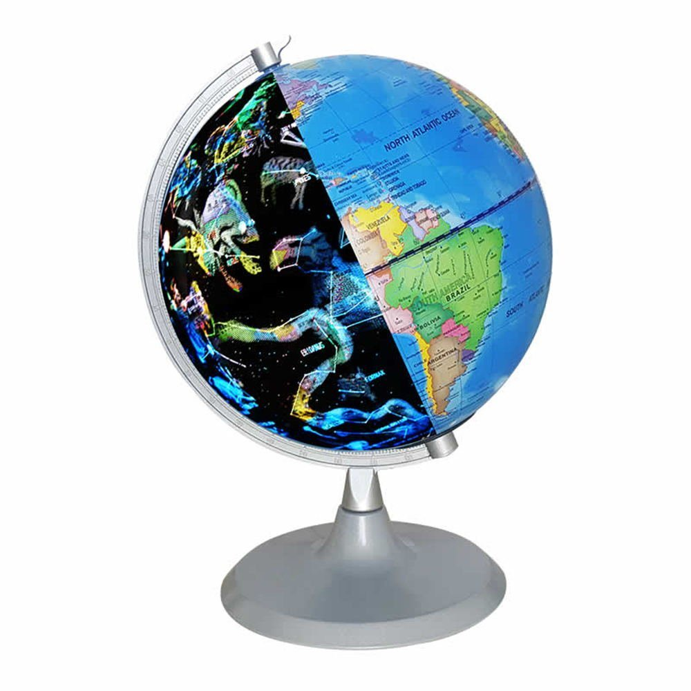 SGOTA USB 2 in 1 LED Desktop World Globe & Illuminated Constellation Map Ideal Educational Geographic Learning Toy