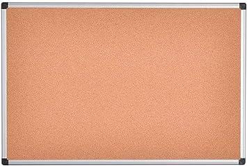Cork Noticeboard Aluminium Frame 600 x 900 mm
