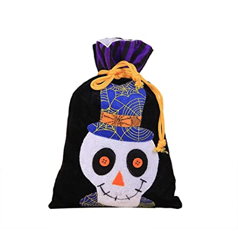 Wicemoon Halloween Bolsas Cartoon Calavera Candy Cordón ...