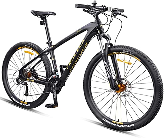 Amazon Com Nengge Hardtail Mountain Bike 27 5 Inch Big Wheels Mountain Trail Bike Carbon Fiber Frame Mens Women All Terrain Mountain Bike Gold 30 Speed Home Kitchen