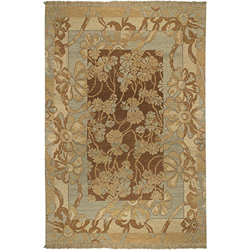 Surya Sonoma SNM-8983 Transitional Hand Knotted 100% New Zealand Wool Cognac 6' x 9' Area Rug - Sonoma Cognac
