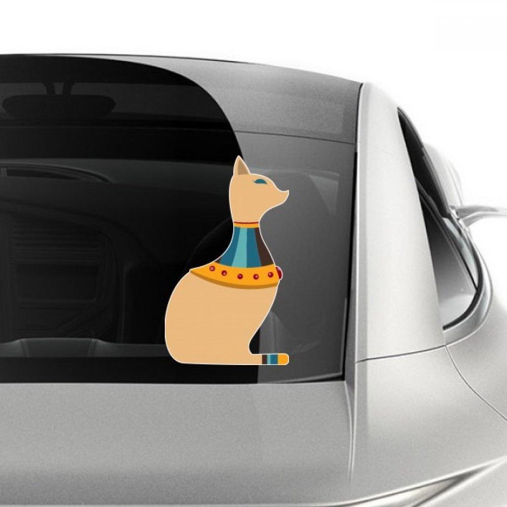 DIYthinker Patrón Ilustración Egipto Cultura Rojo Amarillo Cat tótem del extracto del Coche Pegatina en Car Styling Decal Pegatinas de la Motocicleta de Accesorios de Coches 35cm