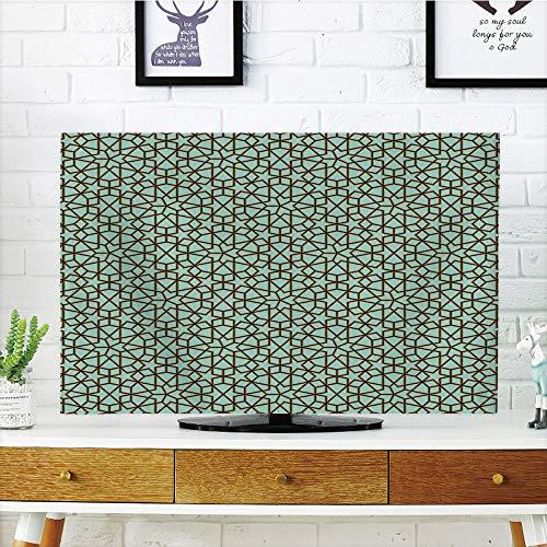 iPrint LCD TV dust Cover,Moroccan Decor,Arabic Design Geometry Ornament Classic Interior Art Vacation Tourism Gateway,3D Print Design Compatible 42